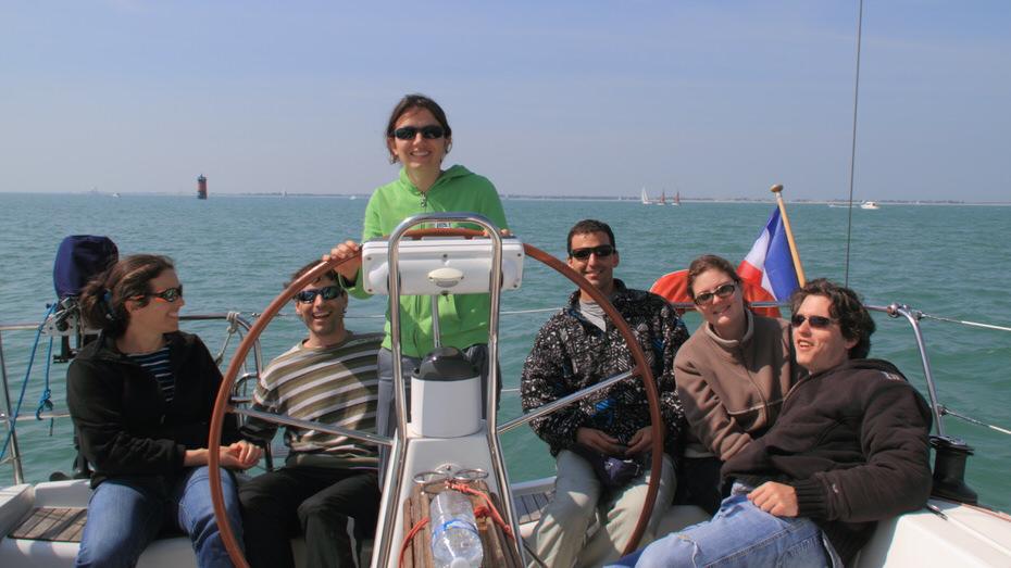 croisière voile entre amis avec skipper