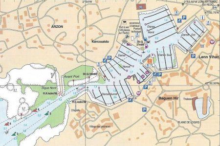 Plan du port du Crouesty