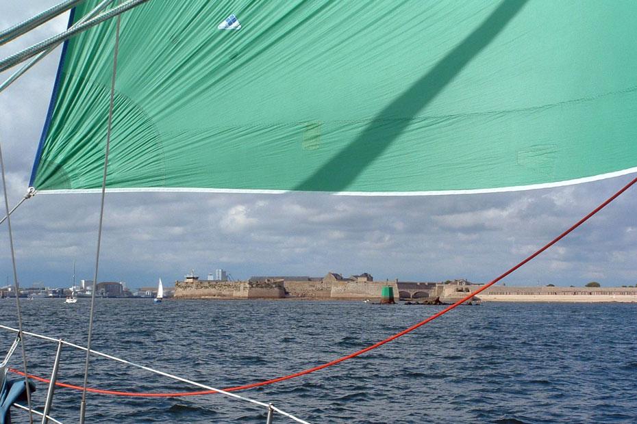 Accès rade de Lorient - citadelle de Port Louis