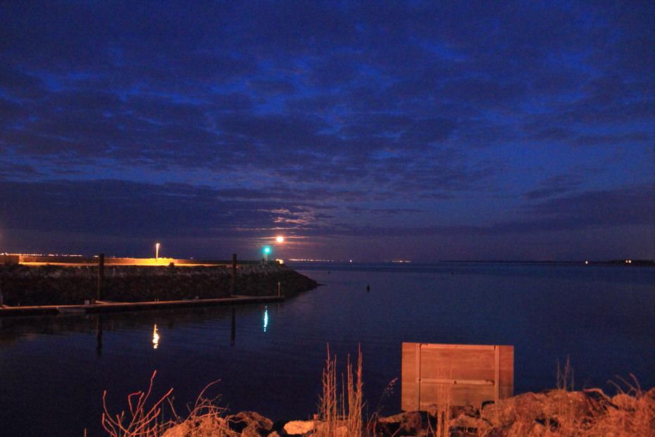 St Denis d'Oléron le port de nuit