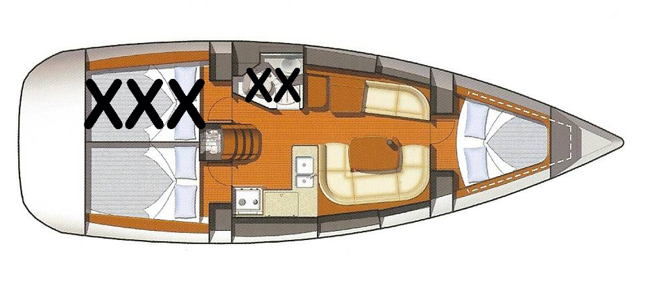 plan de voilier hébergement